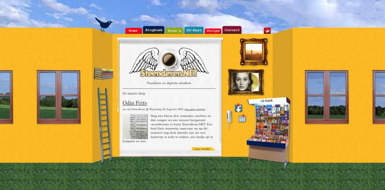 Screenshot van het Steenderen.NET tot aan 2017